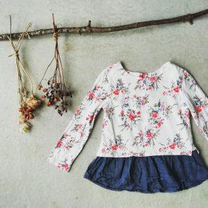花柄カットソー