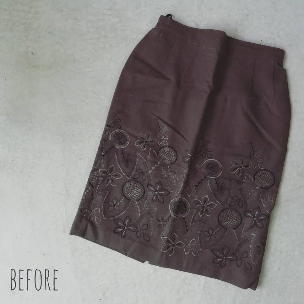ウールのスカート